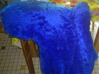Reitkissen in blau